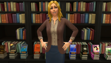 The Sims 4 NaNoWriMo writing